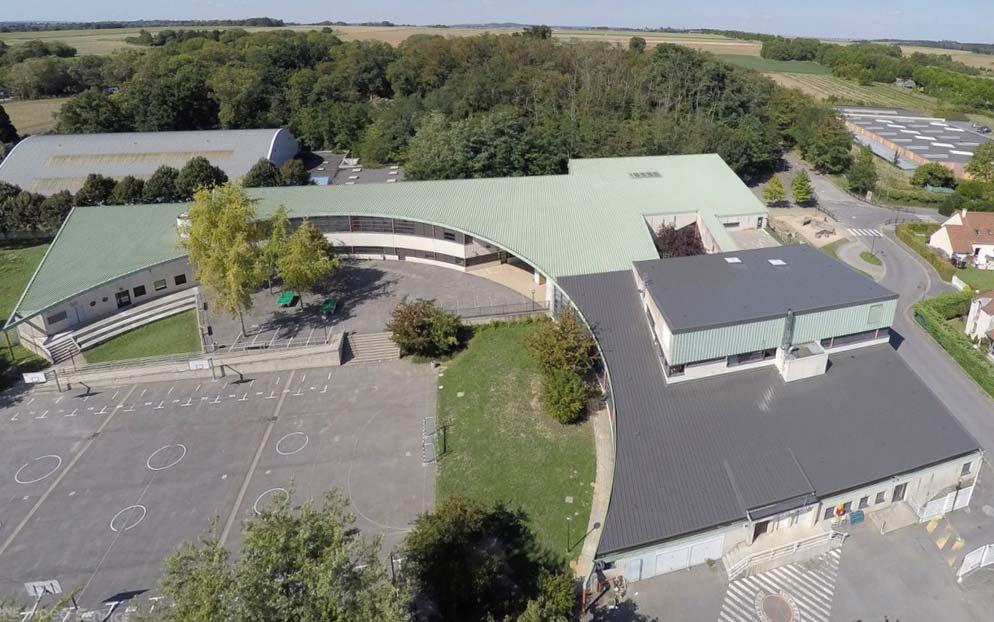 collège daubigny à Auvers-sur-Oise étancheité membrane