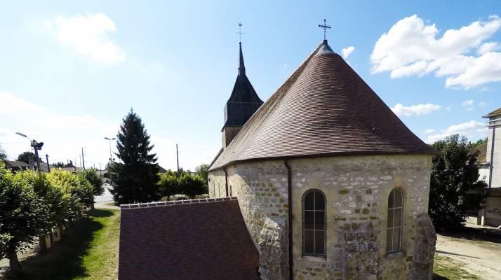 Eglise de la Tombe - couverture ardoise