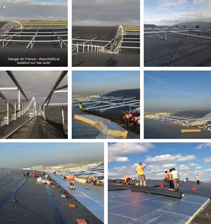 Réfection de l'étanchéité et de l'isolation d'un hangar Air France